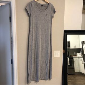 Ann Taylor Gray Maxi Dress